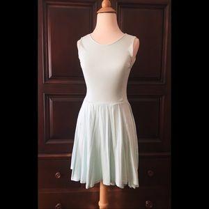 Mint high neck dress